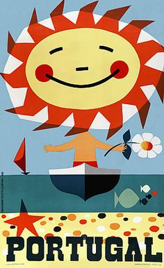 Sunny Portugal - vintage poster   http://www.vintagevenus.com.au/vintage/reprints/info/TV288.htm