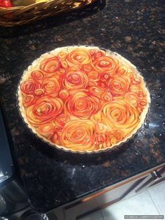 Rose apple pie on Pinterest | Rose Petals, Apple Roses and Rose
