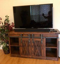 Consola de TV/ Soporte de TV/Centro de entretenimiento/Puerta | Etsy