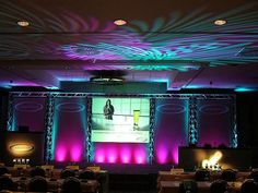 Pattern lighting, stage lighting, pink uplighting
