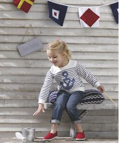Children's Fashion. Mothercare Jeans with Ticking Stripe Waistband. Our jeans with ticking stripe waistband are a great valye fashion piece to add to your little one's collection. Spring/Summer 2014. #ChildrensFashion #Kids #Girls #GirlsFashion