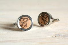 CIJ 20% OFF - Wine Cork Cuff Links - Grape Leaf Stamped - Weddings - christmasinjuly Christmas In July on Etsy, $41.60 CAD