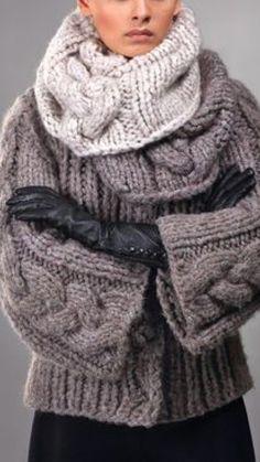 Knitwear Fashion, Knit Fashion, Look Fashion, Winter Fashion, Mohair Sweater, Knitting Designs, Fall Winter Outfits, Knit Patterns, Pulls