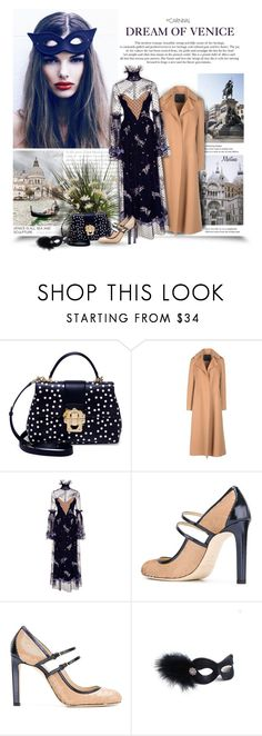 """""""Dream Of Venice"""" by thewondersoffashion ❤ liked on Polyvore featuring Dolce&Gabbana, Ermanno Scervino, Alena Akhmadullina, Jimmy Choo, Masquerade, dolceandgabbana, jimmychoo, ErmannoScervino and AlenaAkhmadullina"""