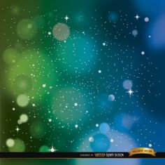 Space background in blue and green colors with a lot of stars shining around. We recommend this vector for using in inspiring campaigns, promos, or messages related to success, good wishes, etc. High quality JPG included. Under Commons 4.0. Attribution License.