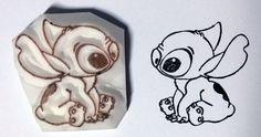 Stitch from Disney Lilo & Stitch  Hand Carved by cravingwans, $7.90
