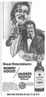 Lauder's Scotch, Robert Goulet 1974 Ad Picture