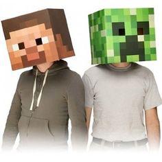 Minecraft Steve and Creeper Head