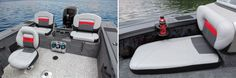 With jump seats aft and cushions forward, the Tracker Targa V-18 Combo is a comfortable and capable aquatic vehicle. While largely a study in metal boat-building, the seat frames are composite, as are the molded consoles.