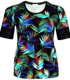 Buntes XXL Sommer Shirt für Damen T-Shirt von Chalou – Bild 1