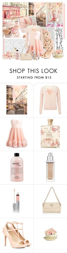 """""""On Cloud Nine"""" by snowshoekittens ❤ liked on Polyvore featuring Cotton Candy, Ladurée, Lollia, philosophy, Christian Dior, Love Moschino, Sole Society and House of Fraser"""