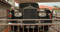Old Rolls Royce on display at Perak State Museum, Taiping, Malaysia