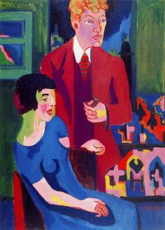 Ernst Ludwig Kirchner, Albert Müller and His Wife, 1925-1926