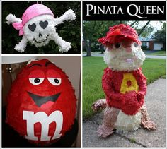 Clever and unique Pinatas are available. Get a special one for your next birthday party or celebration.  Check out all the fun ones.