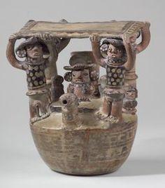 Paccha à goulot frontal - Céramique - Culture Recuay - Collection du Musée Larco, Lima (21,9 x 12 cm) from the collection Pérou, Chavin aux Incas