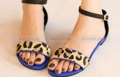 Stu Womens Fashion Sexy Leopard Flat Sandal Shoes Buckle Strap A2013 | eBay
