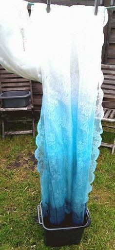 Diy tutorial ombre lace curtains
