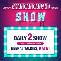 Magic at its Best! Watch World Famous Jadugar Anand & Anand Junior LIVE in Katni.  Daily 2 Shows: 3pm and 6pm Venue: Neeraj Talkies, Katni.  #कटनी #Katni #JadugarAnand #Magic #Magician #Laughter #MagicShow #IndianMagician #Fun #Summer #Holiday #FamilyShow #Happiness #Enjoy #JadugarAnandandAnandJunior #Simhasth2016 #NeerajTalkies — with Agrawal Cateres Katni, St. Pauls Higher Secondary School. Katni, Katni Gandhi Ganj, KV NKJ Katni, Katni, Katni Murwara, Dominos Katni, Katni district, Katni…