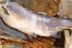 John Singer Sargent (1856 — 1925, USA) Study of Salmon. c. 1901 watercolour on paper. 31.1 x 47 cm.