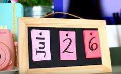 Cute, easy calendar inspired by LaurDIY Xxx