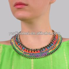 2014 de moda del diseño caliente del ahogador del arco iris collar de collar mujeres