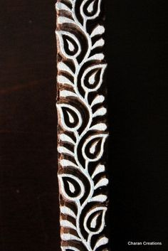 Pottery Stamps Indian Wood Stamp Textile Stamp by charancreations Rangoli Designs Latest, Rangoli Designs Flower, Rangoli Border Designs, Colorful Rangoli Designs, Rangoli Designs Images, Beautiful Rangoli Designs, Shibori, Alpona Design, Rangoli Simple