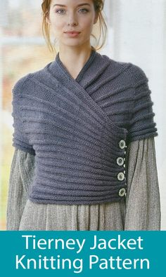 Asymmetric Cardigan Knitting Patterns- In the Loop Knitting