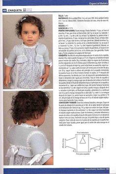Baby Knitting Patterns, Knitting For Kids, Baby Patterns, Free Knitting, Crochet Patterns, Crochet Baby, Knit Crochet, Baby Dress, Flower Girl Dresses
