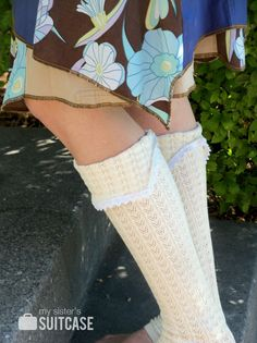 how to make boot socks from the sleeves of an old sweater!
