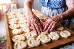 Senior woman baking by Jozef Polc on No Bake Pies, Great Recipes, Vodka, Food And Drink, Dishes, Desserts, Baking Pies, Woman, Circles