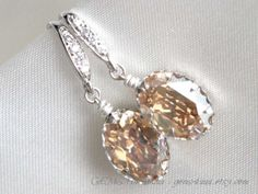 Swarovski Champagne golden shadow oval crystal with by gems4uuu, $29.99