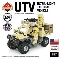 Gioco di costruzioni di Brickmania 827M Ultralight Tacrtical Vehicle from the series: Modern Military released in 2015 - reviews, instructions, videos, prices Easy Lego Creations, Lego Soldiers, Lego Custom Minifigures, Armadura Cosplay, Lego Guns, Lego Truck, Kids Blocks, Lego Worlds, Custom Lego