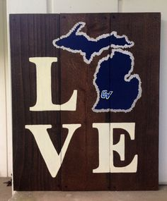 LOVE Grand Valley State University Wooden Sign by DutchGirlDecor