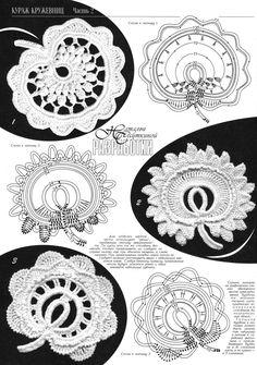 Irisch häkeln - irish crochet - diagrams