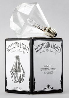 Curious as to how light will reflect off walls..interesting concept #lightbulb #diamond