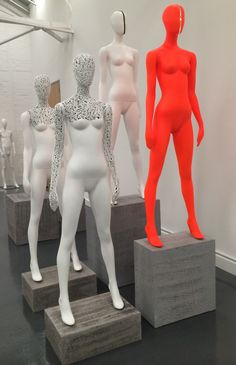 """John Nissen presents his """"Shadows"""" Mannequin Collection at an open showroom…"""