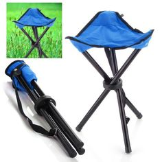 Mini Outdoor Portable Folding Stool for Backpacker Camping A Red Ultra Strong Aluminum Alloy Small Chair With Carry-bag for Kids,Adults Fishing,BBQ,Hiking,Travel B Blue