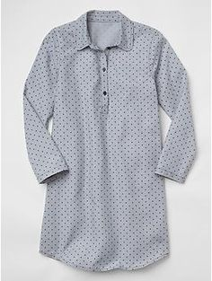 Polka dot shirt nightgown