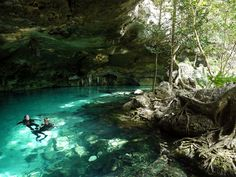 Dos Ojos cenote - Snorkel in the underground cave