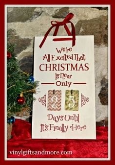 """Super Saturday Crafts: Christmas Countdown """"Christmas is Near Board"""" - NEW!!!"""