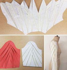 Dress Making Patterns, Pattern Making, Blouse Styles, Blouse Designs, Shingo Sato, Blouse Batik, Pattern Drafting, Fabric Manipulation, Couture