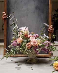 Love the romantic colors and container. From Martha Stewart's Living magazine.