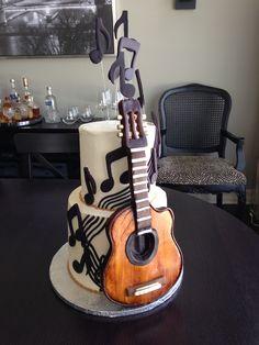 Amazing guitar cake