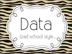 Speechy Musings: How I did data collection in graduate school!