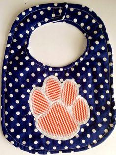 Auburn Tiger Paw Bib  on Etsy, $12.00