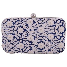Women Girl wedding Party Club Evening Blue Clutch Wallet Purse ...