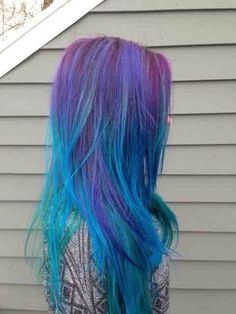Purple teal turquoise ombre hair blue hair ombre hair fashion