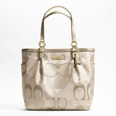 Womens Totes Hand Bag Coach Gallery Optic Metallic « Holiday Adds