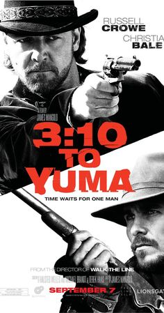 3:10 to Yuma (2007) -- Russell Crowe, Christian Bale, Peter Fonda -- A small-time rancher agrees to hold a captured outlaw who's awaiting a train to go to court in Yuma. A battle of wills ensues as the outlaw tries to psych out the rancher.