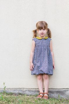 Oliver + S Bubble Dress with the Puppet Show Tunic collar